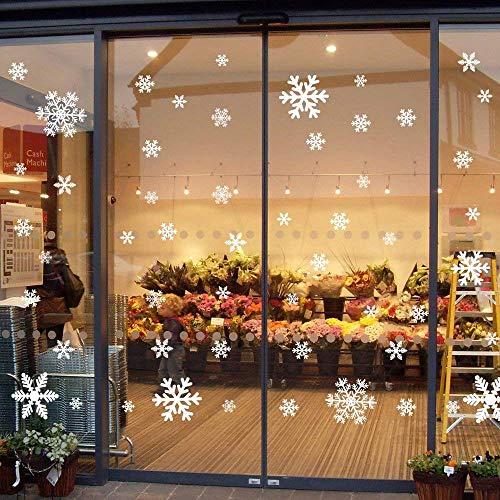fensterbilder schneeflocken 135 Fensterbilder für Weihnachten ,Schneeflocken mit Fensterdeko -Statisch Haftende PVC Aufklebe