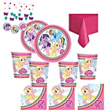 My Little Pony Party-Set für 8 Personen, mit Tellern, Bechern, Servietten, Tischdecke