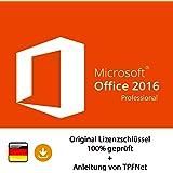 Microsoft® Office 2016 Professional 32 bit & 64 bit Vollversion Original Lizenzschlüssel per Post und E-Mail + Anleitung von TPFNet - Versand maximal 60Min