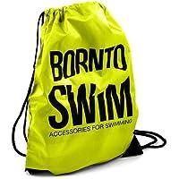 BornToSwim Turnbeutel Sporttasche Schwimmbeutel Mit Born to Swim Hai Motive
