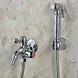 VanMe Rubinetto di lavabo Montato a parete in ottone spruzzatore wc bagno rubinetto Mop pulizia Bidet Rubinetto Rubinetto Lavatrice rubinetto