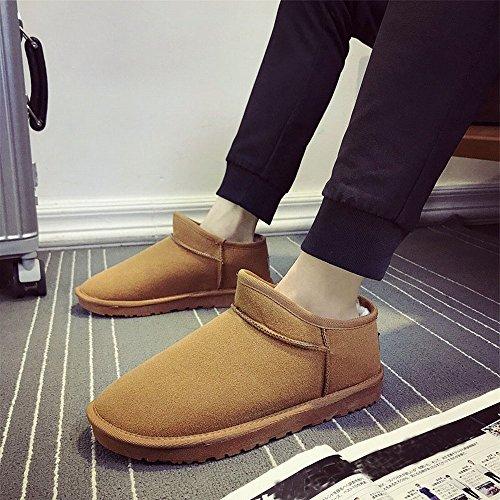 Bottes D'hiver Paire De Neige Plus Chaudes Chaussures De Coton Plat De Velours Chaussures Hommes Chaussures Femmes B