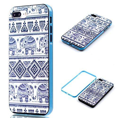 Apple iPhone 8 Plus 5.5 Hülle, Voguecase Schutzhülle / Case / Cover / Hülle / 2 in 1 TPU Gel Skin (Elefanten 06) + Gratis Universal Eingabestift Elefanten
