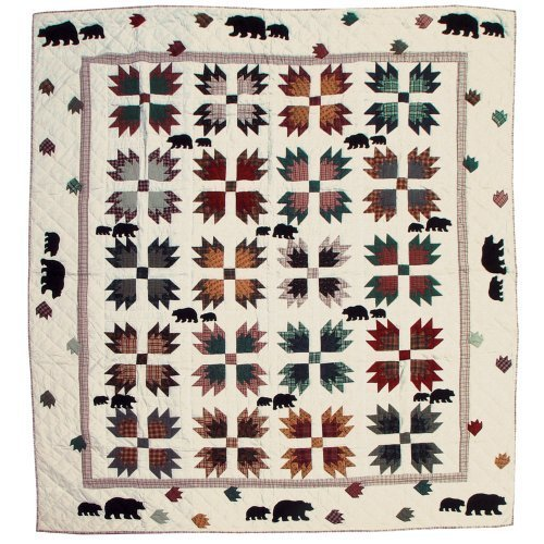 Patch Magic Twin Bear's Paw Quilt, 65-Inch by 85-Inch by Patch Magic -