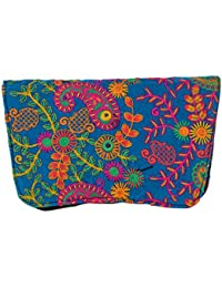 Shubhangi Women's Sling Bag (Jaipuri Embridered Handicraft Traditional Clutches,Multi-Coloured, Rs 2038 Purple)