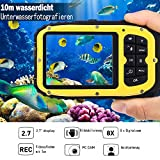 "Digitale Wasserdichte Kamera Unterwasser 10 Meter Camcorder 16MP Video 2,7 ""LCD 8 x Digitalzoom 5MP CMOS Sensor Gesichtserkennung mit 8GB TF Karte"