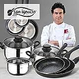 San Ignacio Coopper - Set batería de cocina, acero inoxidable, cromado