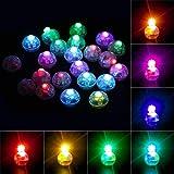 Richaa 100 Pezzi LED Rotondo Mini Lampada a Palloncino, Colorate Lanterne di Carta Lampeggianti luci per la casa Matrimonio C