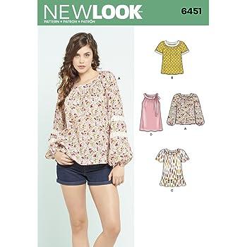 New Look Damen Schnittmuster 6494/Kleider mit /Ärmelvarianten