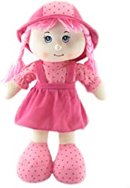 Tickles Pink Cute Looking Smiling Doll Stuffed Soft Plush Toy Love Girl 36 cm AT-DL010 (Design May Vary)