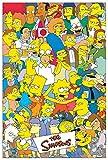 Artopweb Pannelli Decorativi The Simpsons The Simpsons Quadro, Legno, Multicolore, 60x1.8x90 cm