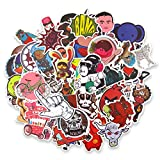 Ndier 200 pcs Graffiti Car Stickers - Motorcycle Bicycle Luggage Decals Stickers for Skateboard Laptop Bumper, Rock and Roll Music Stickers- Random Vintage Retro Pop Art Sticker Pack