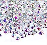 Magic Show Crystal AB Ronda Nail Arte Mezclado Flatbacks rhinestones piedras preciosas mezcla tamaño 2mm–6mm 144Piezas