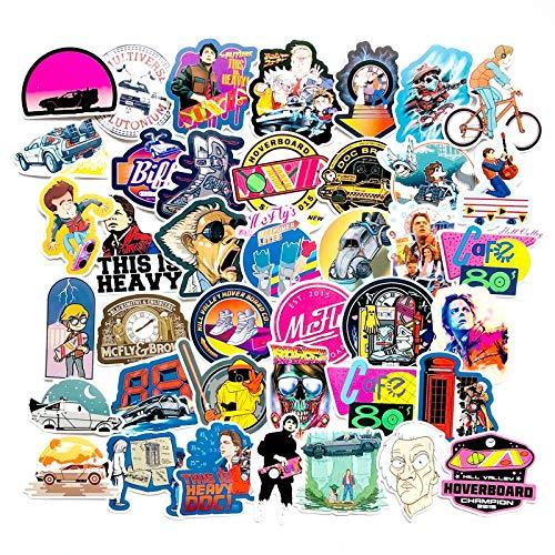 Classic Movie Zurück in die Zukunft Aufkleber Für Gepäck Laptop Kunst Malerei DIY Poster Aufkleber Wasserdicht Skateboard Spielzeug 57 Stücke -