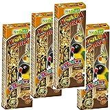 4x je 2 Stück Knabberstangen Kräcker STICK für Papageien und Großsittiche Futtermischung mit Nüssen