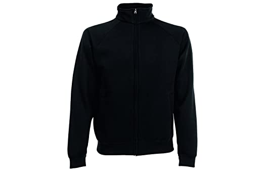 Fruit of the Loom Men's Sweat Sports Jacket, Schwarz (Black 36), Medium
