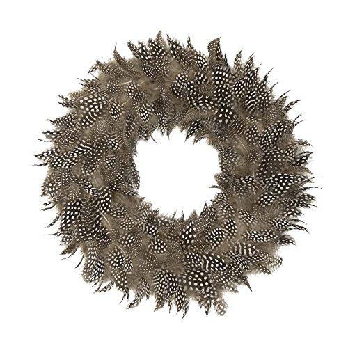 Mars & More - Kranz, Türkranz, Federkranz - Perlhuhnfedern, echte Federn - Ø: 28 cm