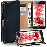 OneFlow Tasche für Samsung ATIV S Hülle Cover mit Kartenfächern | Flip Case Etui Handyhülle zum Aufklappen | Handytasche Schutzhülle Zubehör Handy Schutz Bumper in Schwarz