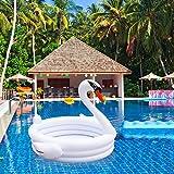 iBellete Kinderwanne aufblasbarer Badewanne ,aufblasbarer Weißer Schwan Formte Kinderbaby-Swimmingpool,Kinderwanne Badewanne Planschbecken Kinder Pool