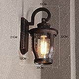 ZHAS Retro Outdoor wasserdicht Wand,Garden Gang Lichter Balkon Wandleuchte Flur Beleuchtung Straßenbeleuchtung Garten der Villa Licht Außentreppe Wandleuchte Außenbeleuchtung 32 * 20 cm (Color:#3)
