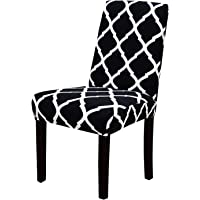 House of Quirk Elastic Chair Cover Stretch Removable Washable Short Dining Chair Cover Protector Seat Slipcover (1 Cover…