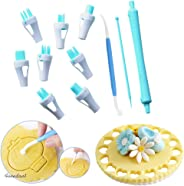 11 Pieces Lace Tweezers clips Food grade plastic Cookie Stamp Mold Cake Cupcake Fondant Decorating Tool