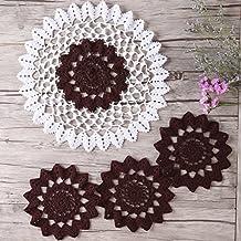 zorjar hecho a mano Crochet manteles de mesa (tapete de encaje hilo de algodón (