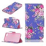 Nancen Apple Iphone 6 Plus / 6S Plus (5,5 Zoll) Premium Leder Flip Handyhülle / Wallet Case, Blumen Landschaften Tiere und Bu