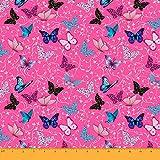 Soimoi 55 GSM Schmetterling Print 42 Zoll Breit Viskose