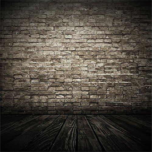 YongFoto 2,5x2,5m Foto Hintergrund Dunkler Innenraum des Alten Schmutzes mit Backstein und Ziegelstein Boden Ziegel Fotografie Hintergrund Photo Booth Erwachsene Kinder persönliche Portrait Studio