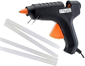 Meya Happy All Purpose 60 Watt Child Safe Hot Melt Glue Gun for School Kids Art and Craft Home Industrial Use with 4 Free Glue Sticks