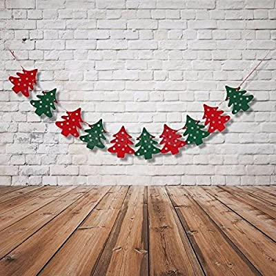 10 string piece Christmas Tree Garland with Red and Green Trees