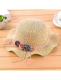 Cappello da sole Estate Ragazza Grande grondaia Cappello Anti-Sole Cappello  di Paglia (Colore a0d3c181e227