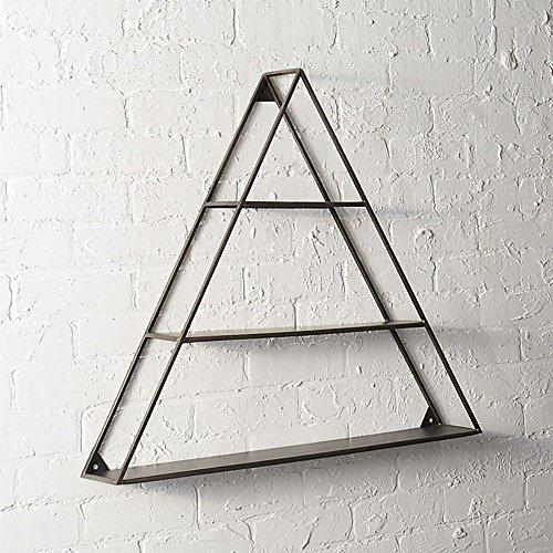 Étagère murale en métal flottant triangulaire à 3 niveaux, noir