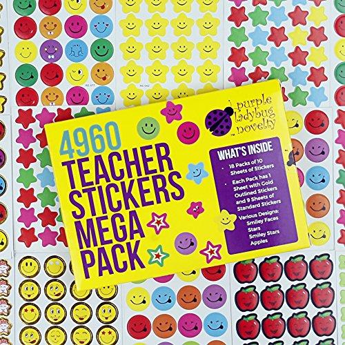 Pegatinas de Recompensa para Niños y Profesores de Purple Ladybug Novelty |...