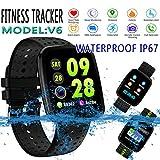 Nabvin Fitness Tracker, Pulsera Inteligente de Actividad, Hombre y Mujer, Black 2