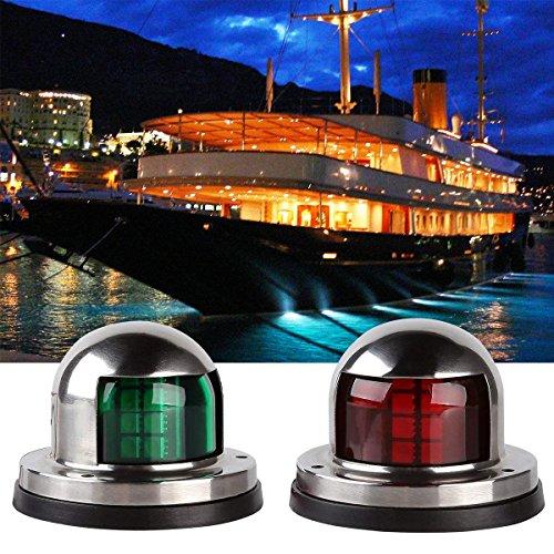 SeeKool 12V Navigationslichter Edelstah Boot LED Lichter, Yacht LED Positionslicht/ Navigationsleuch SeeKool