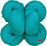 #8: M.G Baby Soft Teal Pack of 6 Wool Ball Hand knitting wool / Art Craft soft fingering crochet hook yarn, needle Acrylic knitting yarn thread dyed