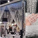 Kristall-Vorhänge, 10 m, 10 m, 10 Stück/Packung, klare Acryl-Strass-Vorhang für Dreaming World, Hochzeit, Party, Heimdekoration, Zubehör DIY Schlafzimmer Vorhang