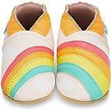 Zapatos de Bebé – Zapatillas de Cuero Niño Niña – Patucos de Piel con Elástico para Bebé - Zapatitos Primeros Pasos - Pantufl