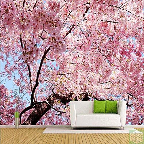 LHDLily Sakura Wallpaper Hd-Tv Hintergrund Wand Tapeten Fashion Romantische Große 3 Wandbild 150cmX100cm Hdtv-wand-tv
