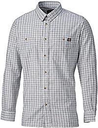 Dickies Holzfällerhemd Tattersal, 1 Stück, 2XL, blau / grau, 7510 BLGXXL