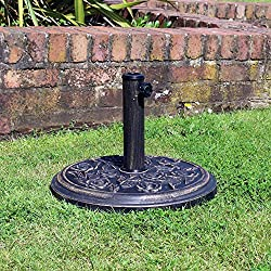 Kingfisher Base de Parasol 45x45x32.5 cm Round Base - Cast Iron Effect