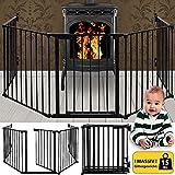 DEUBA | Grille de Cheminée - Pare Feu Protection cheminée - 310 cm - 15 kg | pour Enfants Bébé Animaux Sécurité