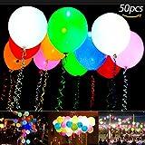 LED leuchtende Luftballons, Ubegood LED Ballons 50 Stück Blinkendes Licht Ballons Bunt schöne Ballon für die Party, Weihnachten, Halloween, Christmas, Geburtstag, Hochzeit, Festival