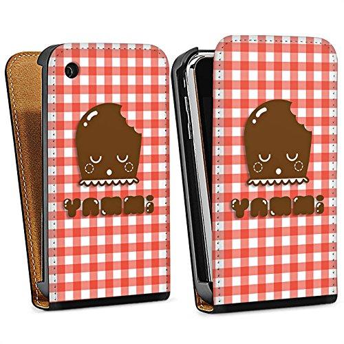 Apple iPhone 6 Housse Étui Silicone Coque Protection Bisou mousseux Dickmann Sucreries Sac Downflip noir