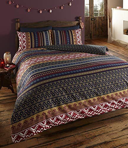 Vogueland Ethnic Indian Print Duvet Cover with Pillow Case, Double by VOGUELAND