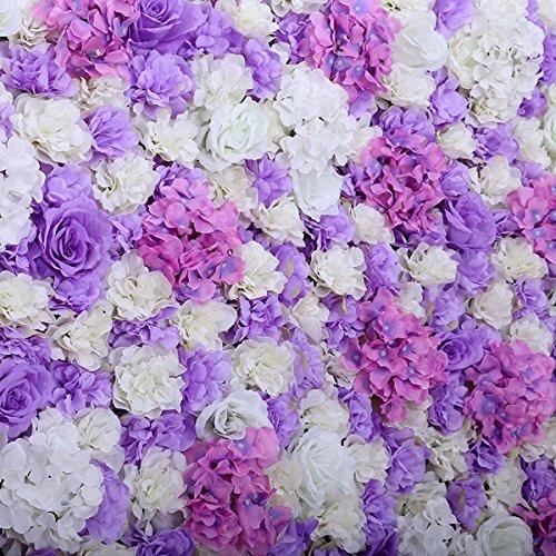 Popowbe Hochzeits- und Blumen-Simulation Blume Fenster-Dekoration mit Aquarellpapier-Teppich-Ornament Blume in Layout hellviolett