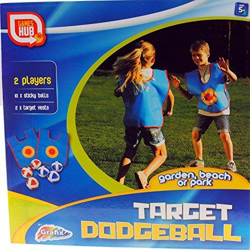 Grafix objetivo DODGEBALL Suave divertido bola Jardín Juego Para Dos Jugadores