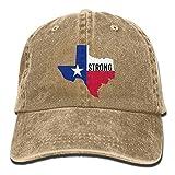 fuyon Texas Strong Unisex Adult Vintage Washed Denim Adjustable Baseball Cap Fashion23